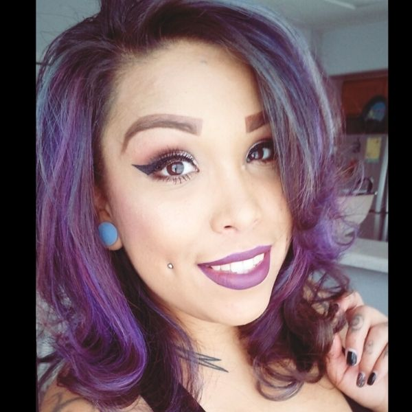Rachel with colored hair - headshot