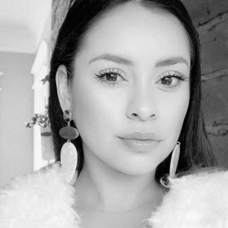Ashley Alcarez black & white headshot